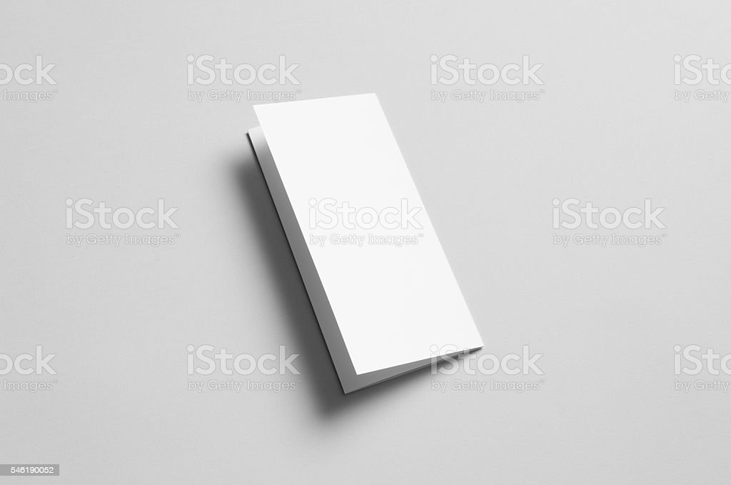 A4 Tri-Fold Brochure Mock-Up - Backside stock photo
