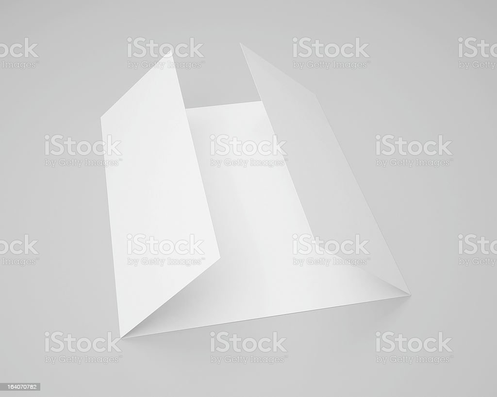 Trifolded Blank Brochure Template Stock Photo More Pictures Of