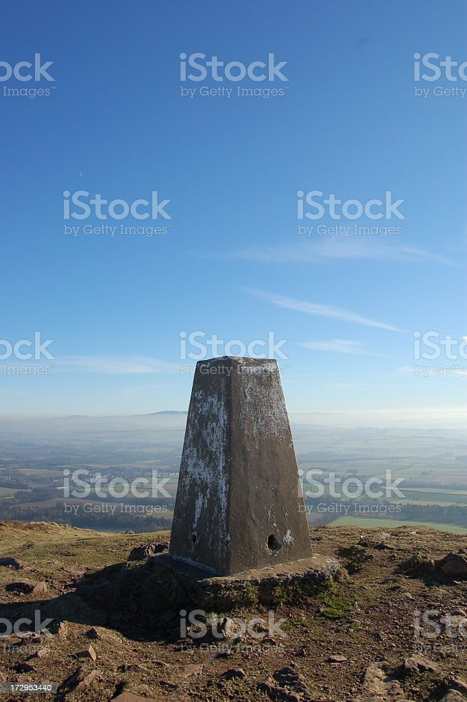 Trig Point. stock photo