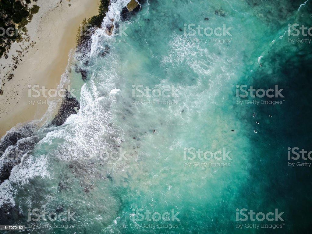 Trigg Beach High View stock photo