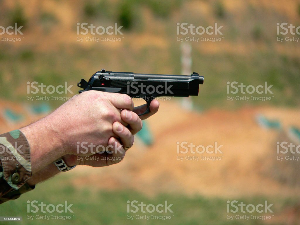 Trigger Squeeze royalty-free stock photo