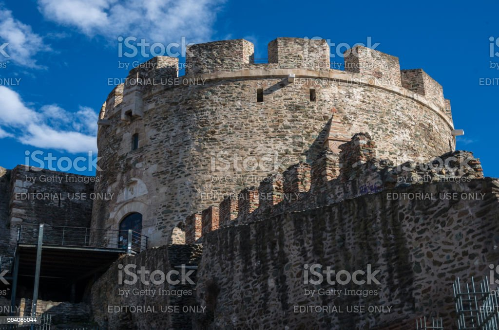Trigoniou tower, part of the fortification of Thessaloniki, Greece - Royalty-free Ancient Stock Photo