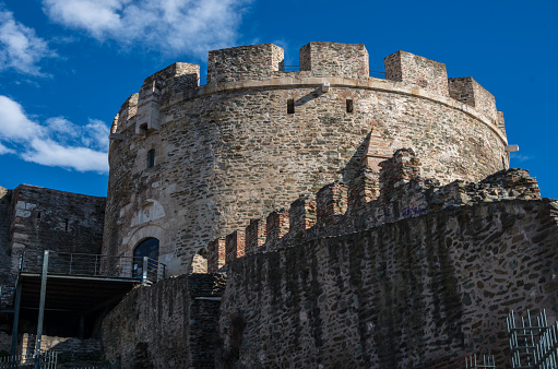 Trigoniou Tower Part Of The Fortification Of Thessaloniki Greece Stock Photo - Download Image Now