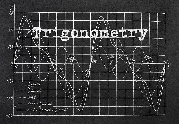 trigonometry and graph - lernfortschrittskontrolle stock-fotos und bilder