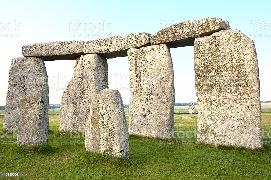 Trilithons and Bluestones at Stonehenge Horizontal stock photo