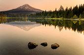 istock Trillium Lake Sunrise 491762684