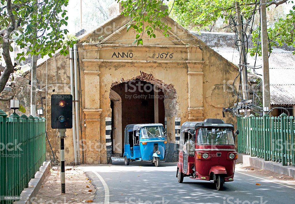 Trincomalee Fort entrance, Sri Lanka stock photo
