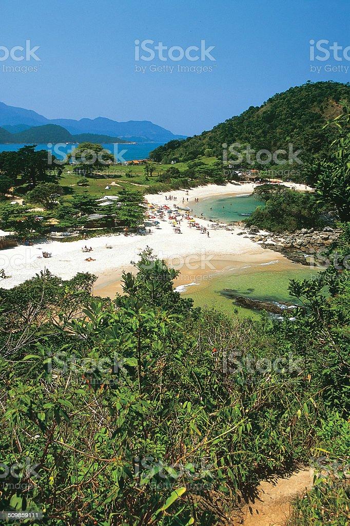 Trindade,Paraty, Baía de Angra stock photo