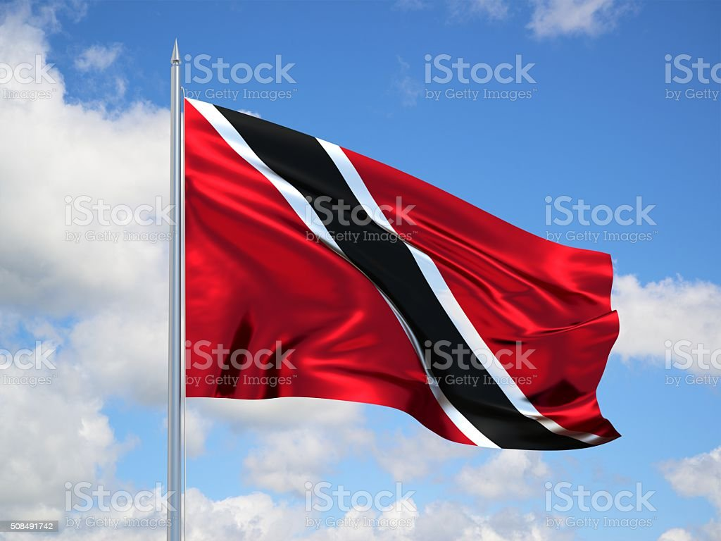 Trinidad and Tobago 3d flag stock photo