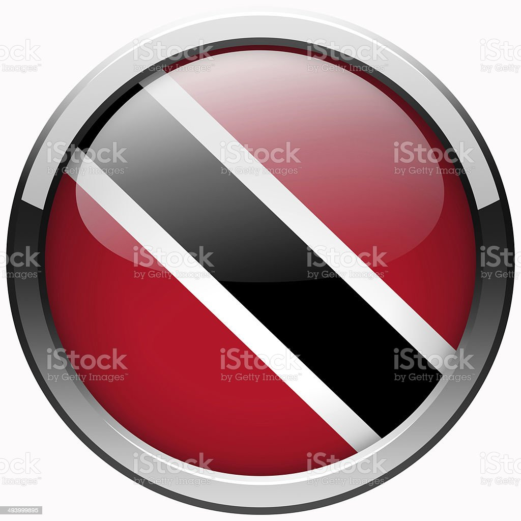 trinidad and tobago flag gel metal button stock photo