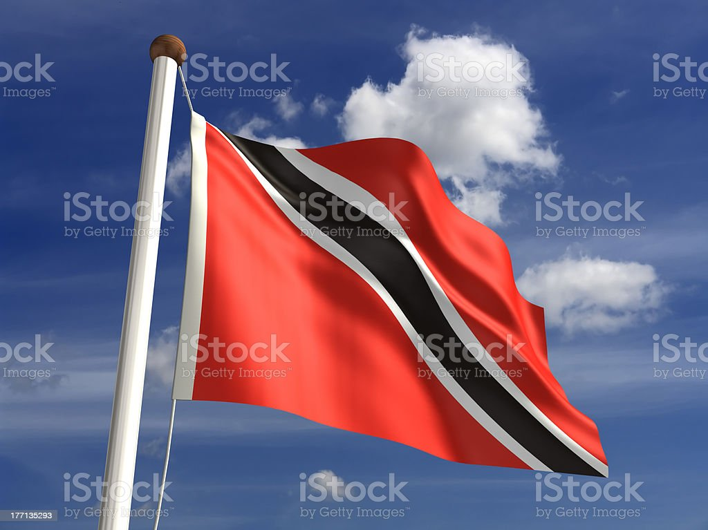 Trinidad and Tobago flag (with clipping path) stock photo