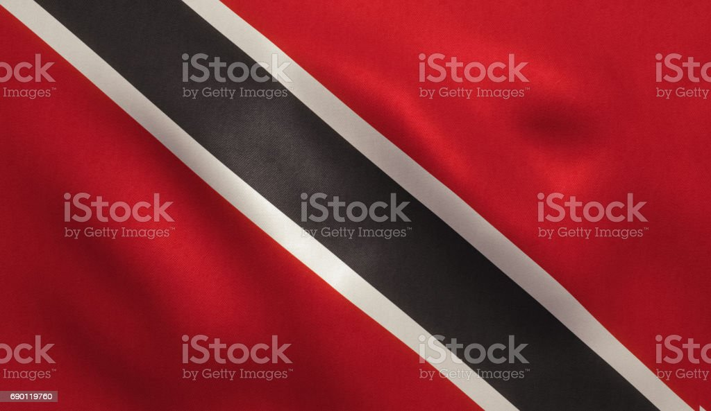 Trinidad and Tobago Flag stock photo