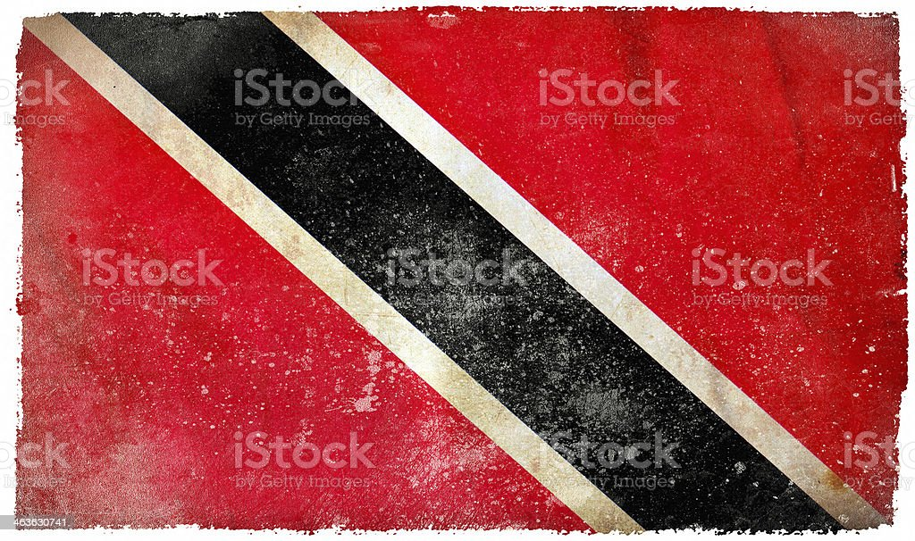 Trinidad and Tobago grunge flag stock photo
