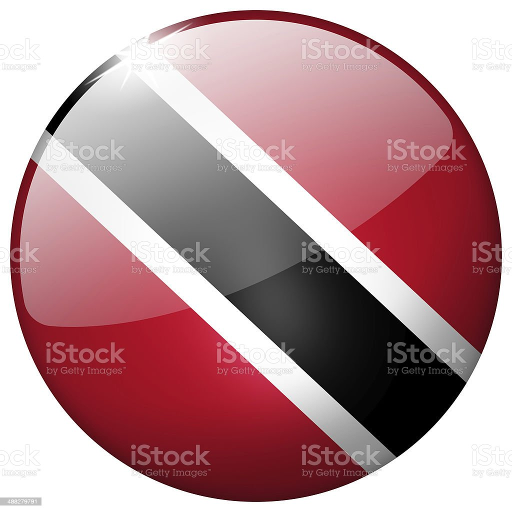 Trinidad And Tobago Round Glass Button stock photo