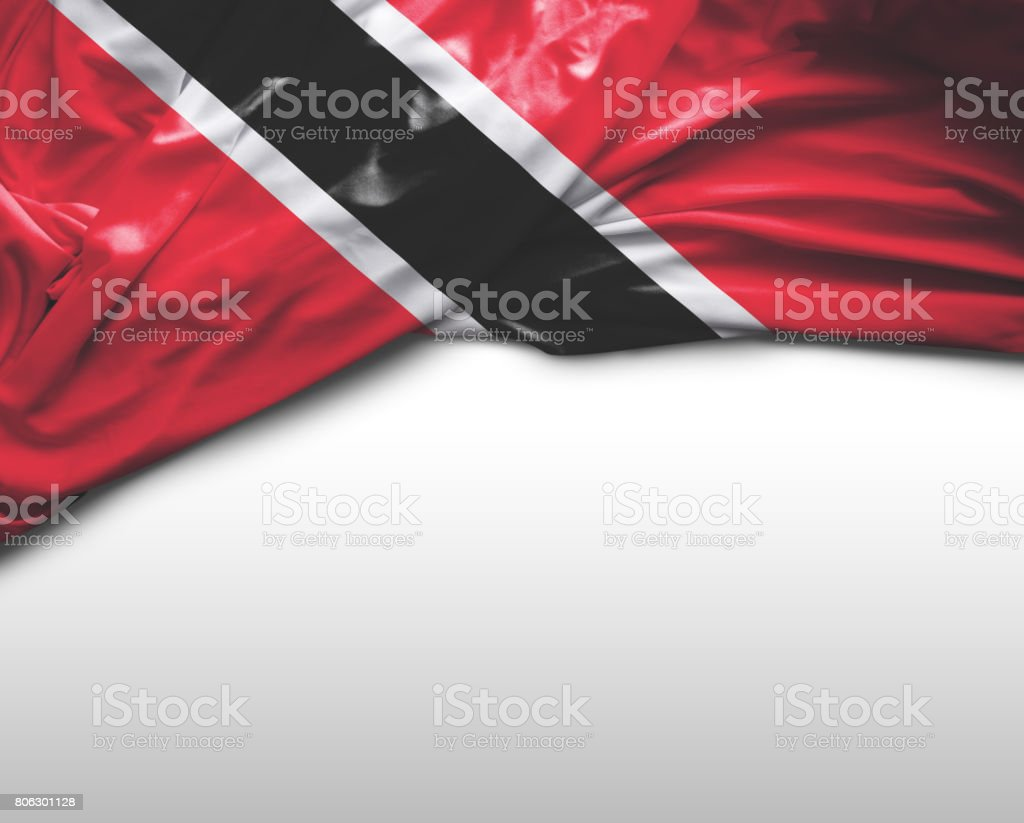 Trinidad and Tobago waving flag stock photo