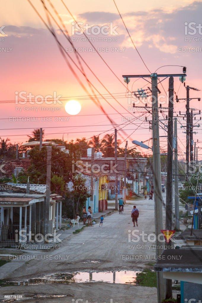 Trinidad at sunset royalty-free stock photo