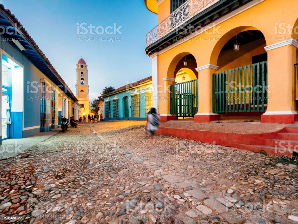 Trinidad Bell Tower in Cuba stock photo
