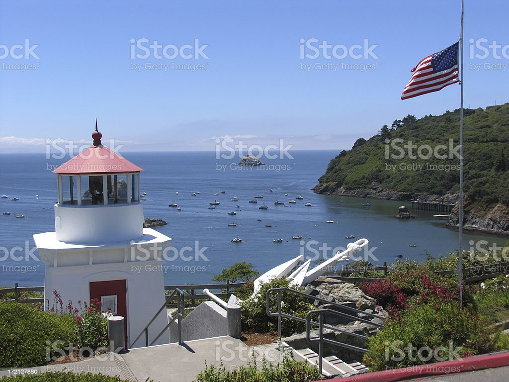 Trinidad lighthouse stock photo