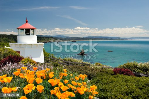 Located in Northern California in Trinidad is this delightful memorial lighthouse remembering sailors who had been lost. Beautiful setting overlooking the Bay.