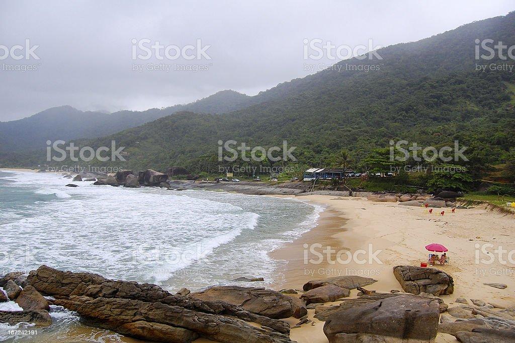 Trinity Beach, Paraty Brazil royalty-free stock photo