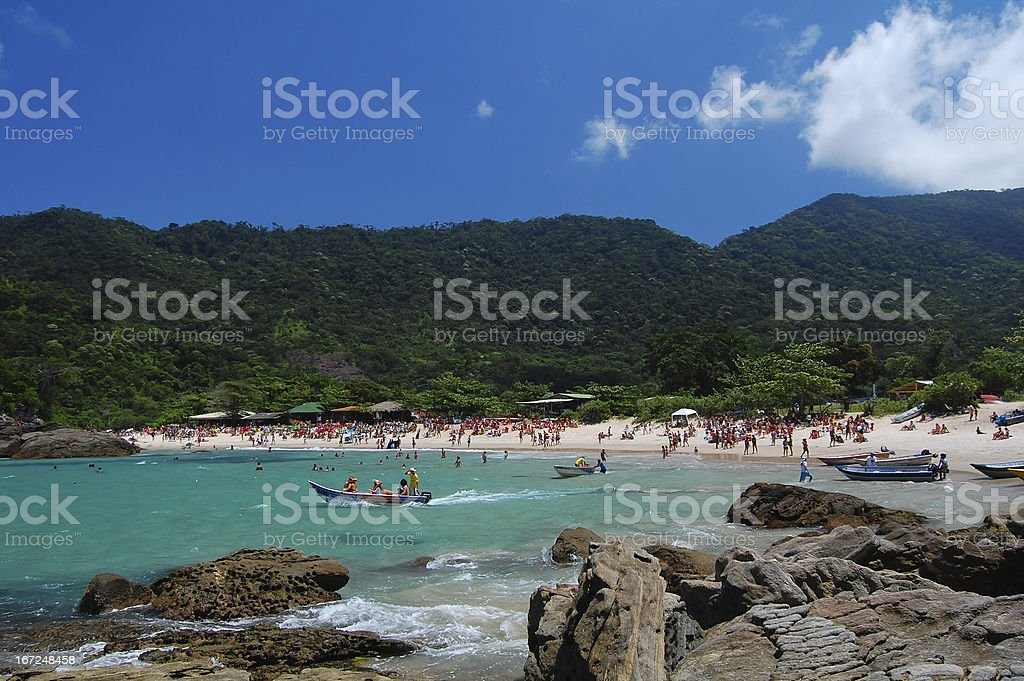 Trinity Beach Rio de Janeiro royalty-free stock photo