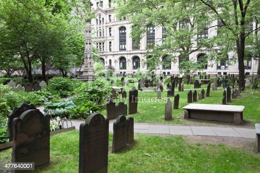 istock Trinity Church cemetery in New York city 477640001
