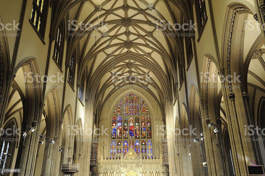 Trinity Church in Manhattan royalty-free stock photo