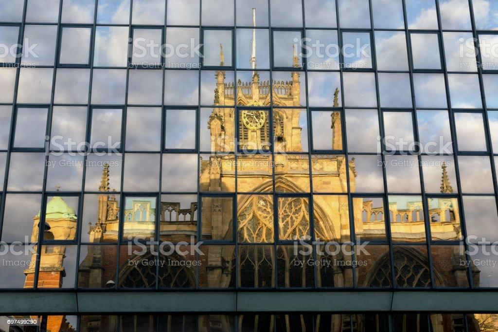 Trinity Church or Trinity MInster, Hull stock photo