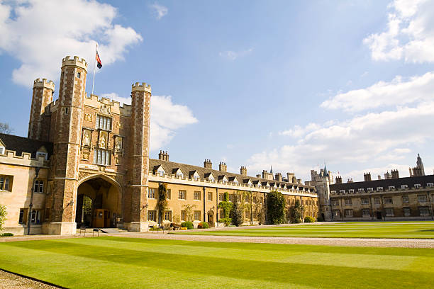 trinity college cambridge - cambridge university stock photos and pictures