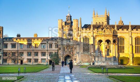 istock Trinity college inner yeard.  Cambridge 537500023