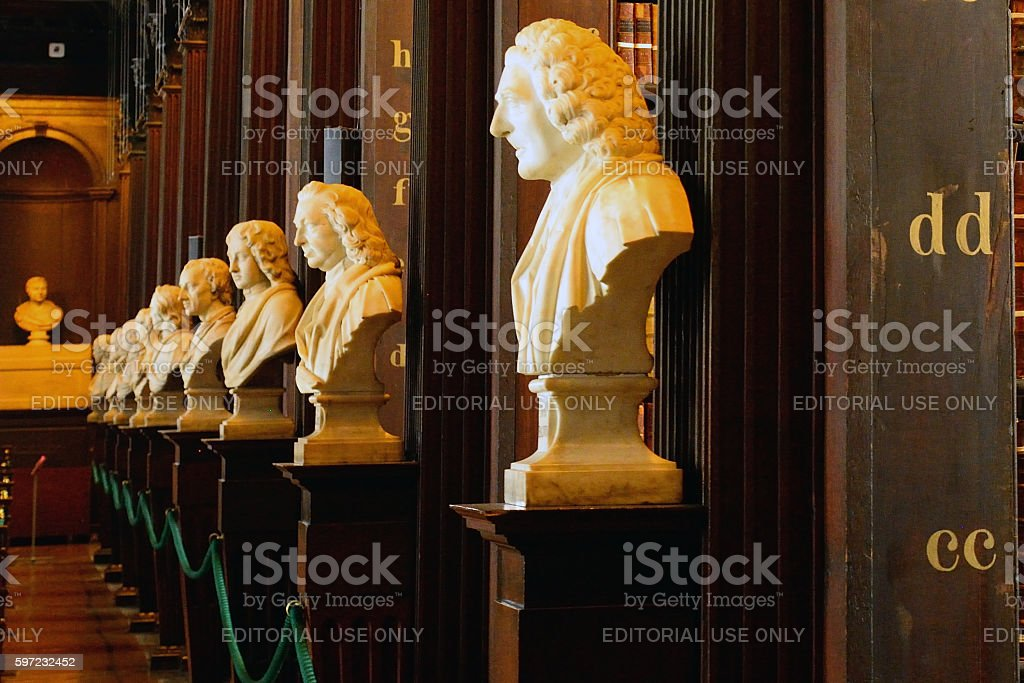 Trinity College Library, Dublin, Ireland stock photo