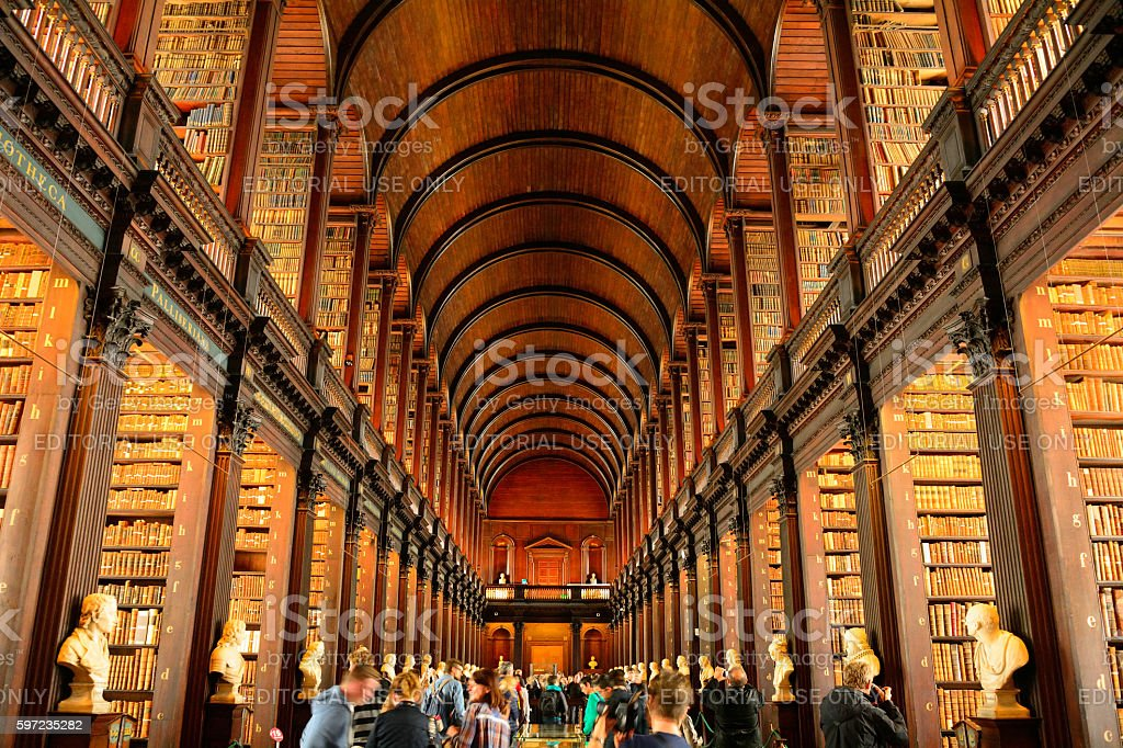 Trinity College Library, Dublin, Ireland stock photo