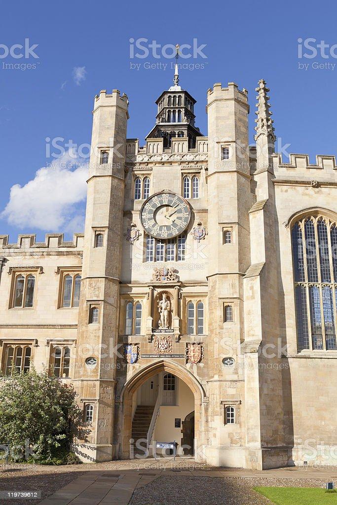 Trinity College of Cambridge University, UK royalty-free stock photo