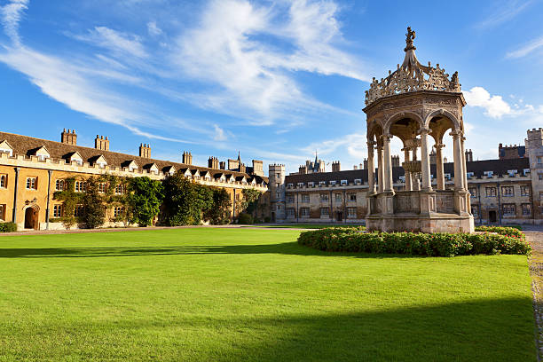 trinity college of cambridge university, united kingdom - cambridge university stock photos and pictures