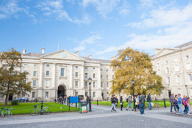 Trinity College of Dublin stock photo