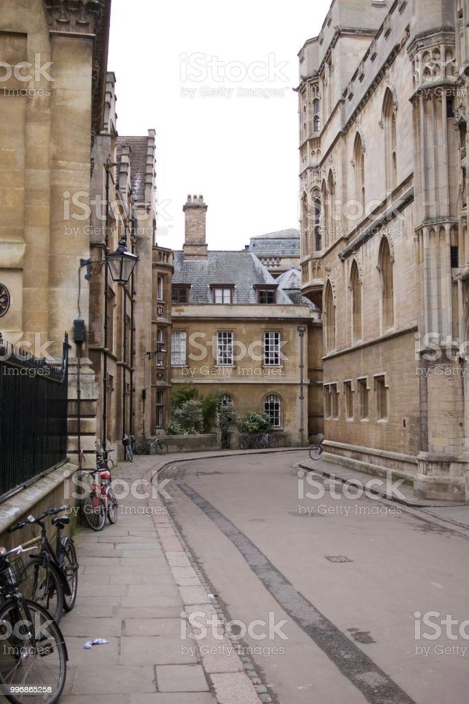 Trinity Lane, Cambridge, UK stock photo