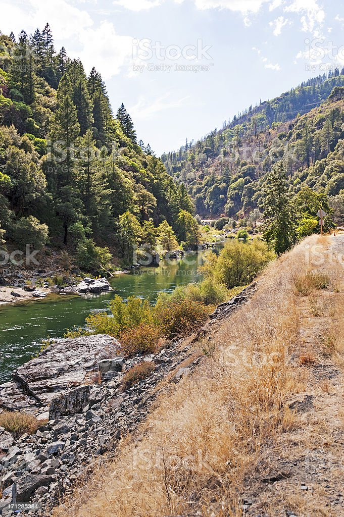 Trinity River Canyon royalty-free stock photo