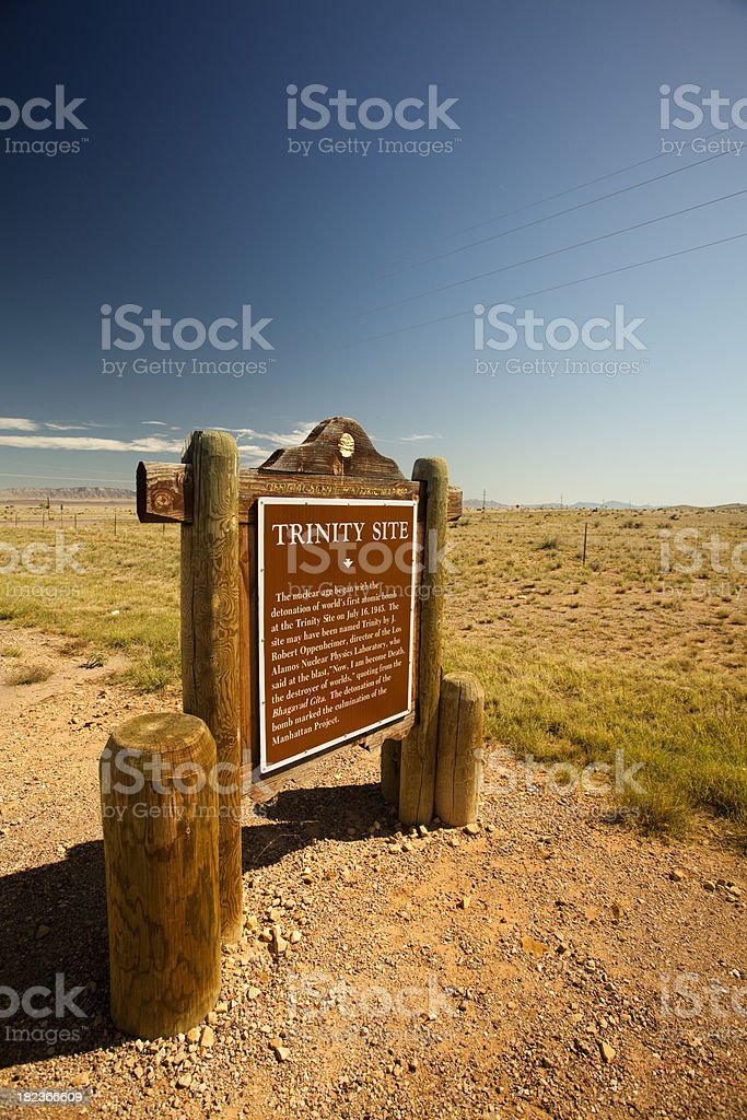 Trinity Site atomic bomb landmark royalty-free stock photo