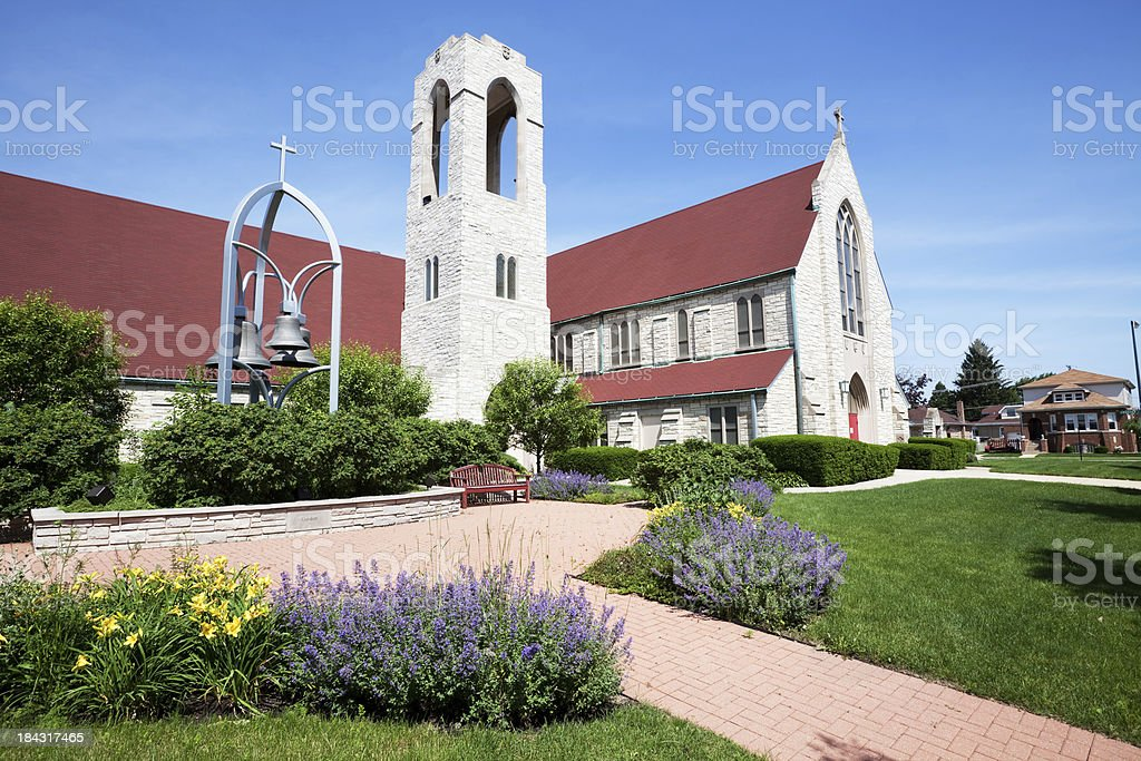 Trinity Slovak Lutheran Church in Forest Glen, Chicago royalty-free stock photo