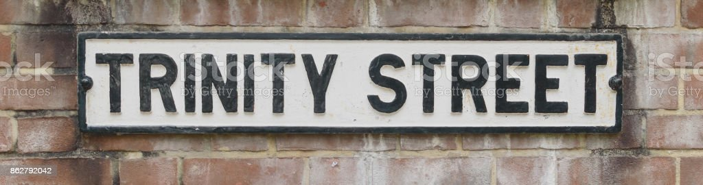 Trinity Street Namensschild – Foto