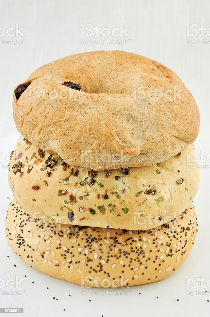 Trio Bagels royalty-free stock photo