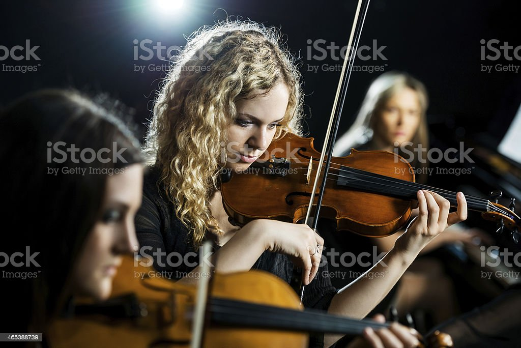 Trio Female Orchestra Stock Photo - Download Image Now - iStock