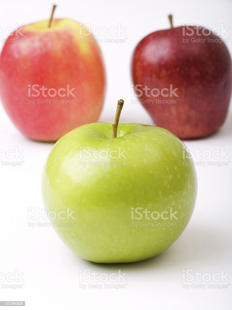 Trio of Apples royalty-free stock photo