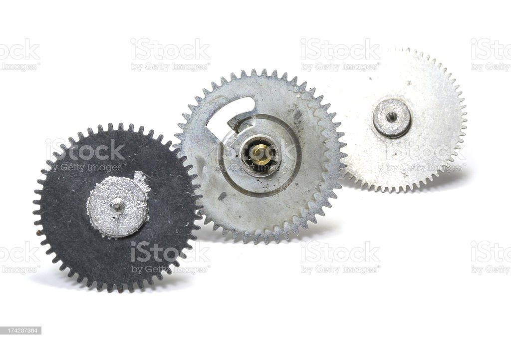 Trio of Gears royalty-free stock photo