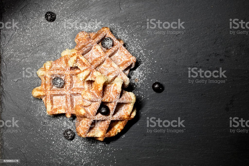 Trio Of Waffles stock photo