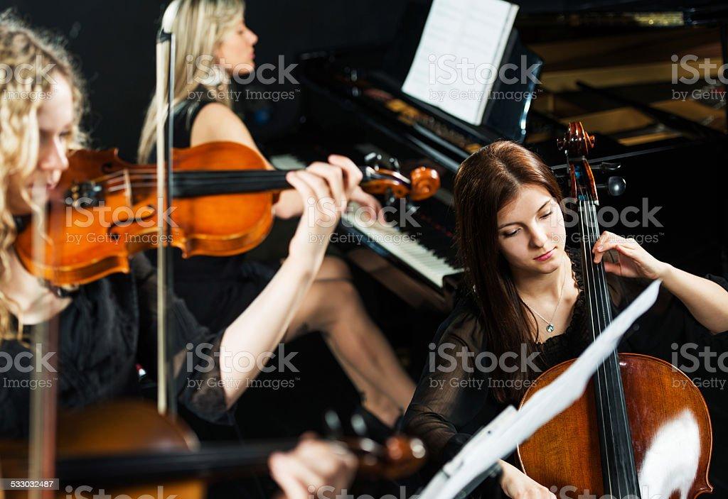 Trio orchestra. stock photo