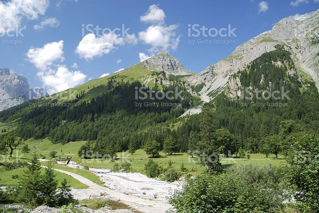 Triol valley stock photo