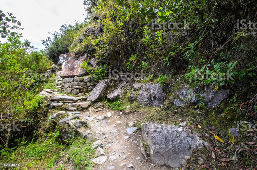 Trip among the mountains of Peru stock photo