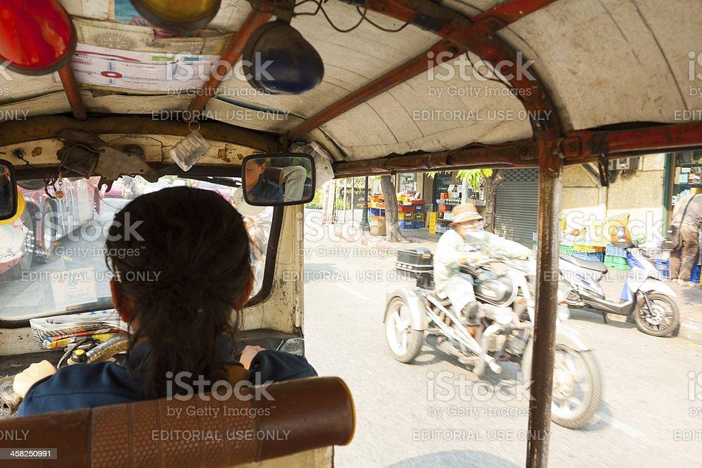 Trip in tuk-tuk royalty-free stock photo