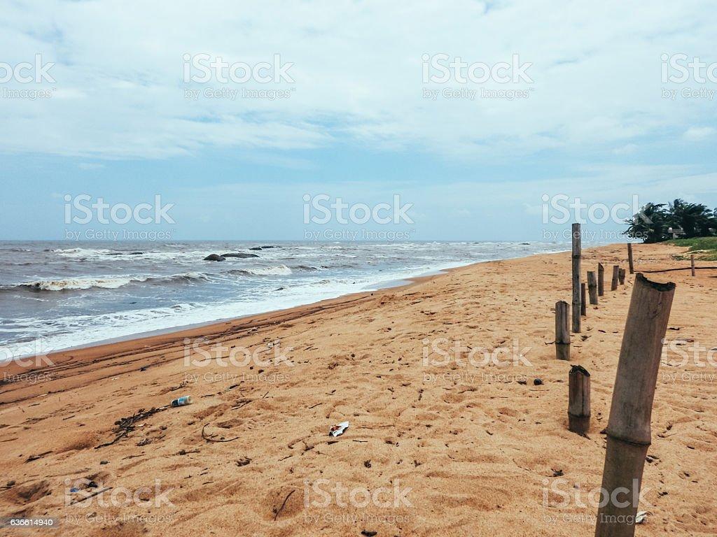 Trip to Africa. The Atlantic coast in Liberia stock photo